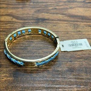 Talbots NET Gold Blue Bracelet